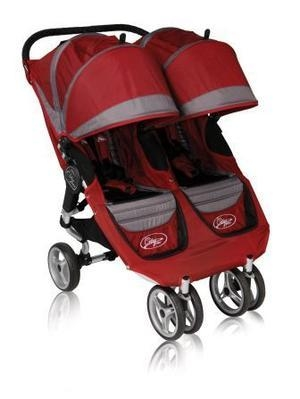 Baby Jogger City Mini dubbel 2012, red i gruppen BARNVAGNAR & TILLBEHÖR / BabyJogger barnvagnar  / Baby Jogger Mini dubbelvagn hos Köpbarnvagn.se (81176)