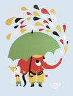 Littlephant Poster Litografi Rain