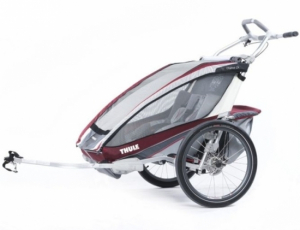 Thule Chariot CX 2 inkl. cykelset Burgundy