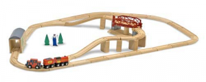 Melissa & Doug Tågset Swivel Bridge Train Set