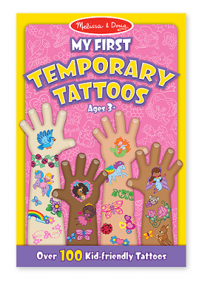 Melissa & Doug My First Temporary Tattoos Rosa