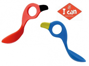 I Can Spoon 2-pack - Multigreppsked Blå/Röd