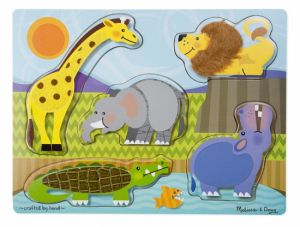 Melissa & Doug Pussel Touch & Feel Safari