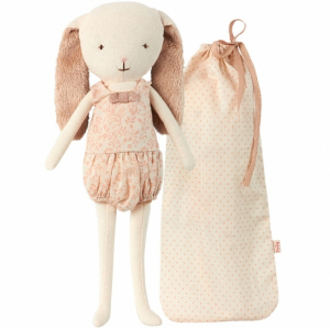 Maileg Mini Bunny Bell Rose in bag