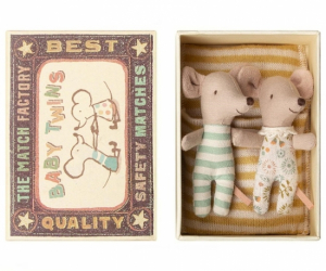 Maileg Mouse Baby Mice Twins in Box
