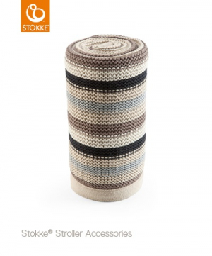 Stokke Stickad Filt Black Multi