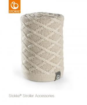 Stokke Stickad Filt Cable Cream