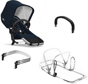 Bugaboo Donkey2 Duo Extension Set Komplett Classic Collection, Alu/Dark Navy