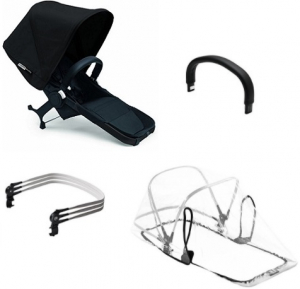 Bugaboo Donkey2 Duo Extension Set Komplett, Black/Black