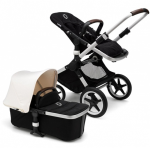 Bugaboo Fox Komplett, Alu/Black/Fresh White