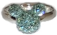 Busy Lizzie Ring Strass Mickey Mint