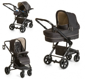 Hauck Travel System Atlantic Plus Caviar Black