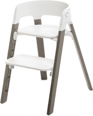 Stokke Steps Matstol White Hazy Grey