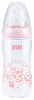 NUK Nappflaska First Choice+ PP Rose 300 ml, 0-6 mån
