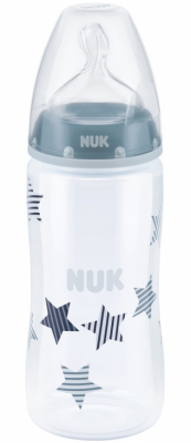 NUK Nappflaska First Choice+ PP Blå 300 ml, 6-18 mån