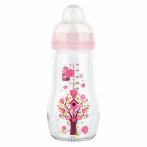 MAM Glasflaska 260 ml Rosa