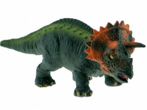 Green Rubber Toys Triceratops