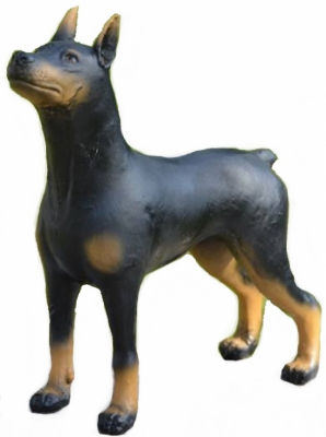 Green Rubber Toys Doberman