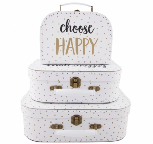 Sass & Belle Resväskor Choose Happy 3-pack