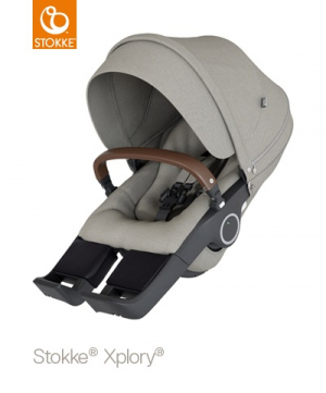 Stokke Xplory V6 & Trailz Sittdel, Brushed Grey