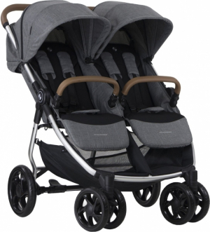 Crescent Duo Lightway syskonvagn Grey Melange