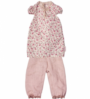 Maileg Medium Pyjamas Blommig Rosa