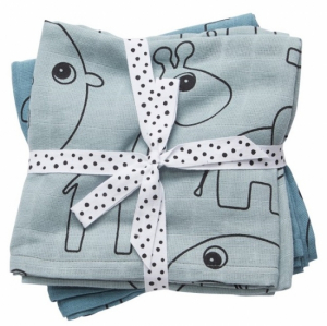 Done by Deer Swaddle Filt Contour Blue, 2-pack
