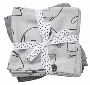 Done by Deer Swaddle Filt Contour Grey, 2-pack