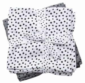 Done by Deer Swaddle Filt Happy Dots Grey, 2-pack