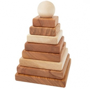 Woodenstory Stapelpyramid Natur