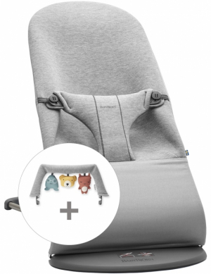 BabyBjörn Babysitter Bliss Light Grey 3D Jersey + Lekbåge