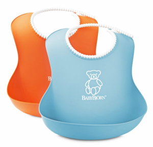 BabyBjörn Mjuk Haklapp 2-pack Orange/Turkos