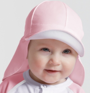 SunSeal UV-Hatt Baby Rosa
