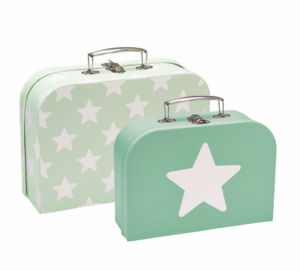 Kids Concept 2-pack Resväskor Star Mint
