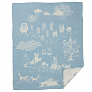 Klippan Bomullsfilt Little Bear Blue