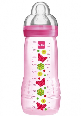 MAM Nappflaska Easy Active 330 ml Rosa