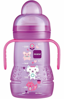 MAM Nappflaska Trainer+ 220 ml Rosa