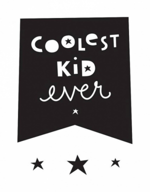 A Little Lovely Company Wallsticker Coolest Kid Ever