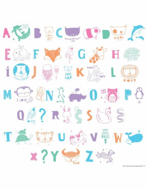 A Little Lovely Company Lightbox Letter Set Kids ABC Pastel