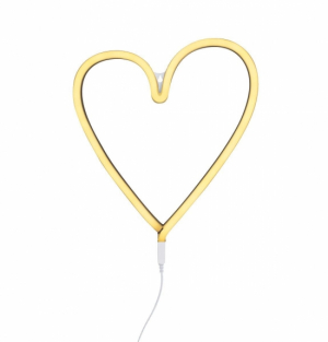 A Little Lovely Neon Light Heart Yellow