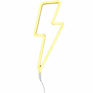 A Little Lovely Neon Light Lightning Bolt Yellow
