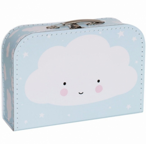 A Little Lovely Company Resväska Moln Blå