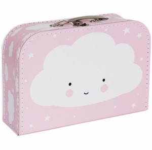 A Little Lovely Company Resväska Moln Rosa