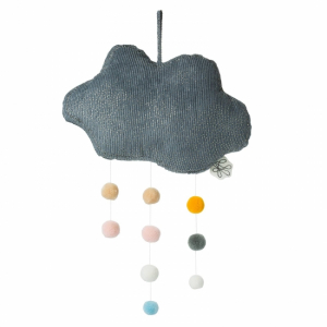 Picca Loulou Cloud with pompoms Grey