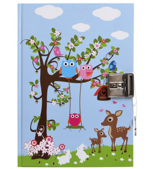 Bobble Art Woodland Dagbok Liten