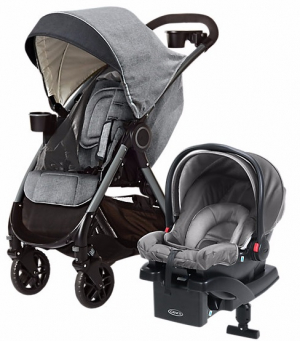 Graco Fast Action Fold DLX Travel System Dove Grey