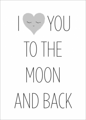Frank & Poppy Poster 30x40 Love You To The Moon