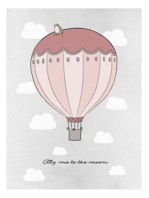 Frank & Poppy Poster 30x40 Fly Me To The Moon Pink