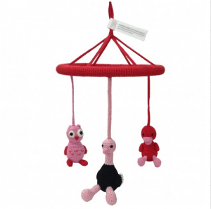 Nature Zoo Virkad s�ngmobil R�d/Rosa (And, struts, uggla)