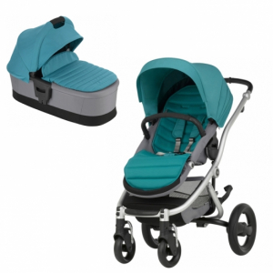Britax Affinity 2 Duo Silver Chassi Lagoon Green
